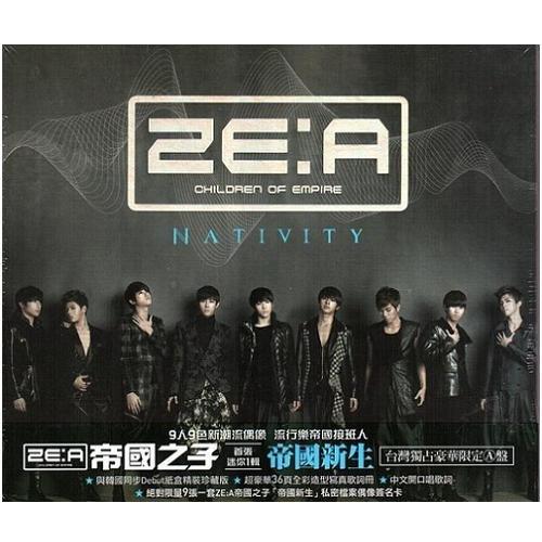 韓國團體ZE:A 帝國之子首張迷你1輯CD 帝國新生台灣獨占豪華限定A盤附限量9張偶像簽名卡