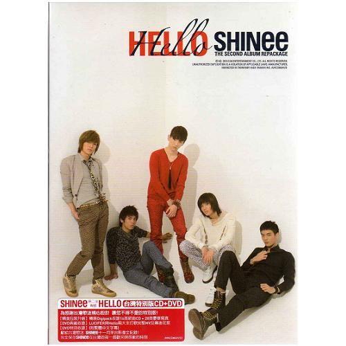 SHINee 第二張專輯CD附DVD HELLO 台灣特別版 收錄16首新曲CD+28頁豪華寫真 (音樂影片購)