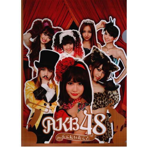 AKB48 就在這裡 資料夾 超人氣團體 限量影音周邊商品 (音樂影片購)