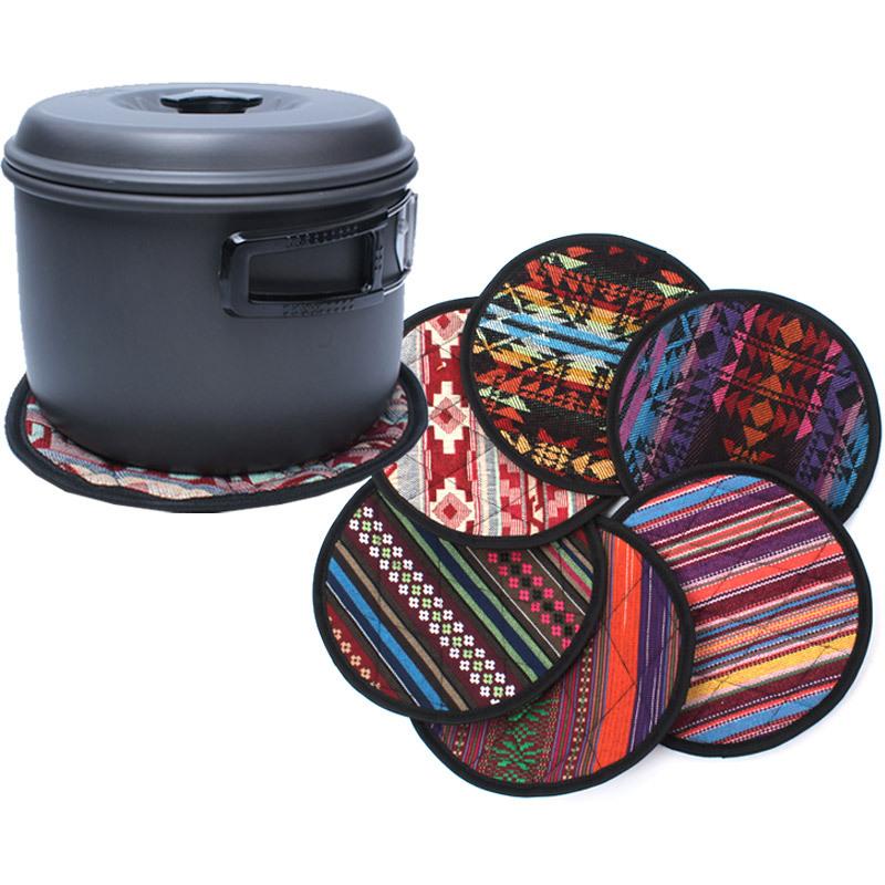 【露營趣】中和 TNR-173 民族風隔熱鍋墊 隔熱墊 防燙墊 鍋墊 杯墊 餐具墊