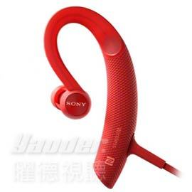 【曜德★新上市】SONY MDR-XB80BS 紅 運動藍牙入耳式藍牙耳機 防水 ★免運★送收納盒★