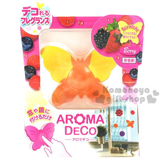 〔小禮堂〕AROMA DECO 日製黏著式造型芳香劑《橘.蝴蝶》輕鬆打造舒適空間