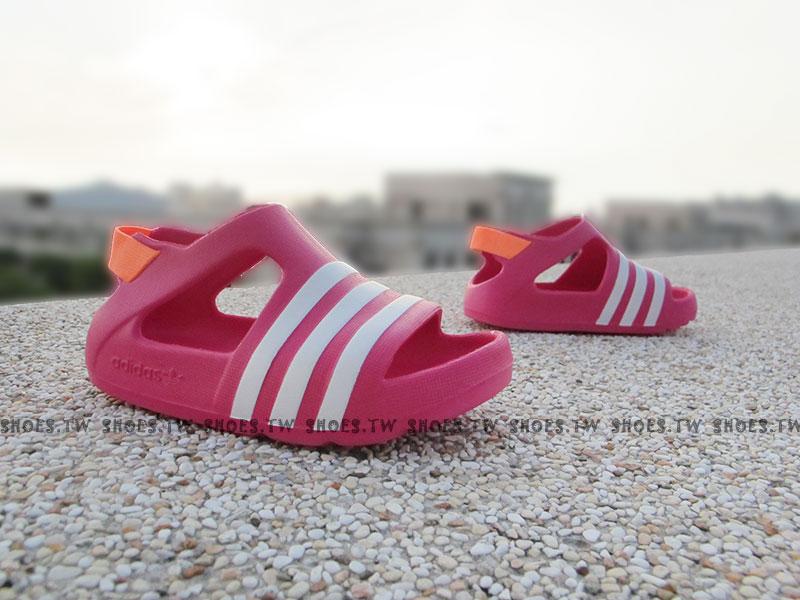 Shoestw【B25030】ADIDAS 童鞋 涼鞋 小童 Adilette Play I 桃紅
