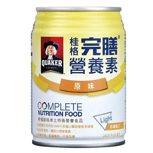 QUAKER桂格 完膳營養素-均衡減糖(含纖原味配方)250mlx24罐