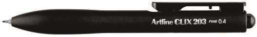 【Shachihata 日本寫吉達】Artline CLIX 203 優質水性簽字筆 EK-203 (黑色 0.4 mm)