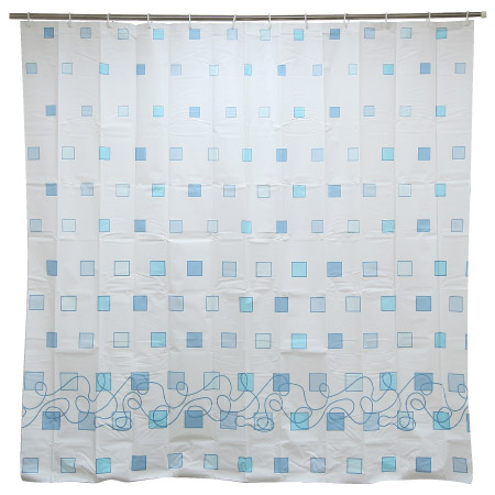 浴簾 PEVA藍格 BH-239-5 180x180cm