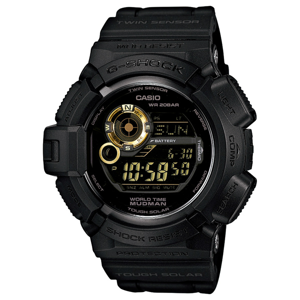 CASIO G-SHOCK  G-9300GB-1DR黑金蛙人數位流行腕錶/50mm