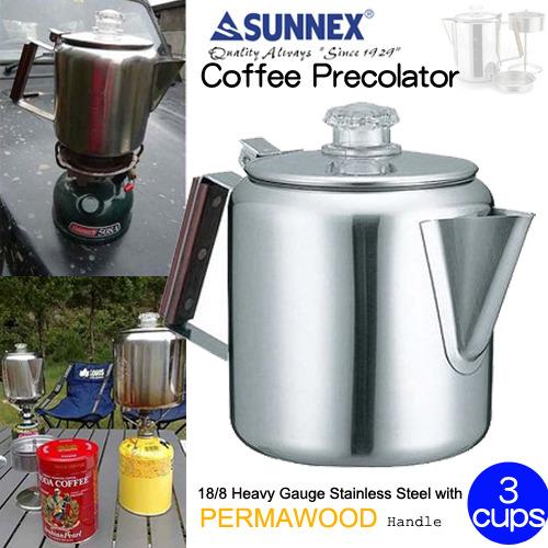 【速捷戶外露營】【CAMP LAND】 RV-ST270-3 美式不鏽鋼咖啡壺 三杯份 茶壺(滴煮式)