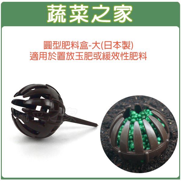 【蔬菜之家002-A66】圓型肥料盒-大(日本製)適用於置放玉肥或緩效性肥料