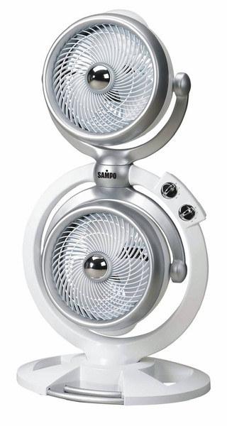 SAMPO 聲寶 SKS-L1016SL 雙渦輪空氣循環扇(時尚白)  **免運費 **
