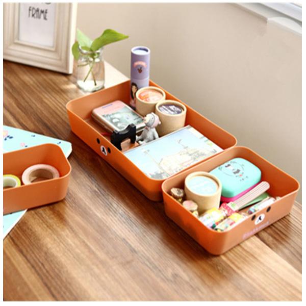 BO雜貨【SV6324】拉拉熊 輕鬆熊桌面小物抽屜收納盒 文具 保養品化妝品 餐具收納