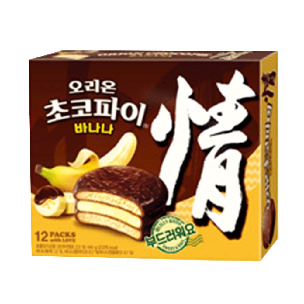 韓國進口 ORION 好麗友-香蕉巧克力派444g