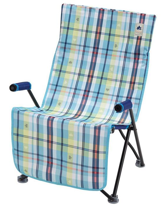 【鄉野情戶外專業】 LOGOS |日本|  愛麗絲格紋防水椅套-藍/座椅墊 適用LG73174029/LG73173048