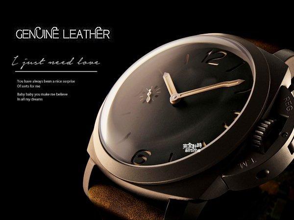 【完全計時】手錶館│Panerai 沛納海代用 大型錶扣 進口錶帶 24mm 復古 麂皮革 限定特價優惠 彈帶皮