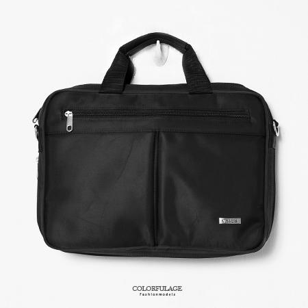 MIT手提包 型男品味時尚尼龍公事包.側背包 可放A4文件.小筆電 大容量設計 柒彩年代【NZ462】斜背包