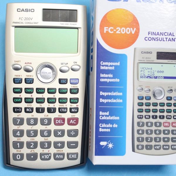 CASIO卡西歐 FC-200V 財稅型專用計算機 財務計算機/一台入{促1900}~公司貨 附保證書