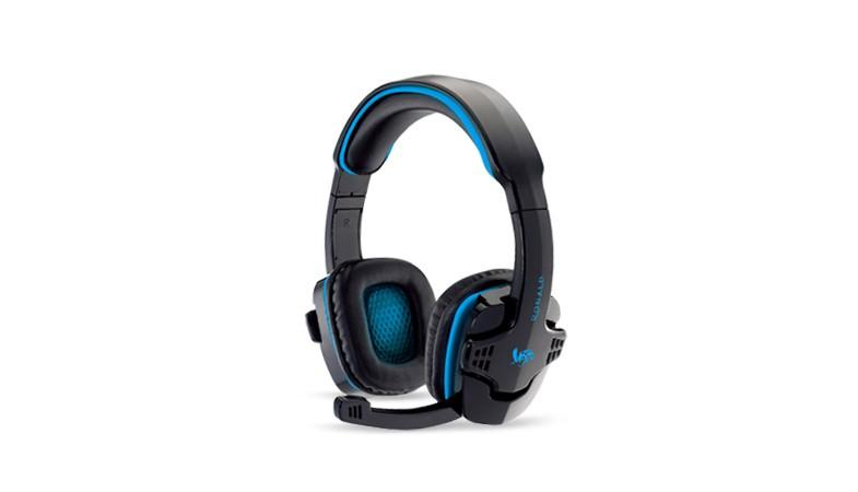 樂點生活●laclick 電競遊戲級專用耳機麥克風-藍 MOE178