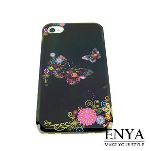 iPhone4S 愛情彩蝶情侶彩殼 手機殼 Enya恩雅(郵寄免運)
