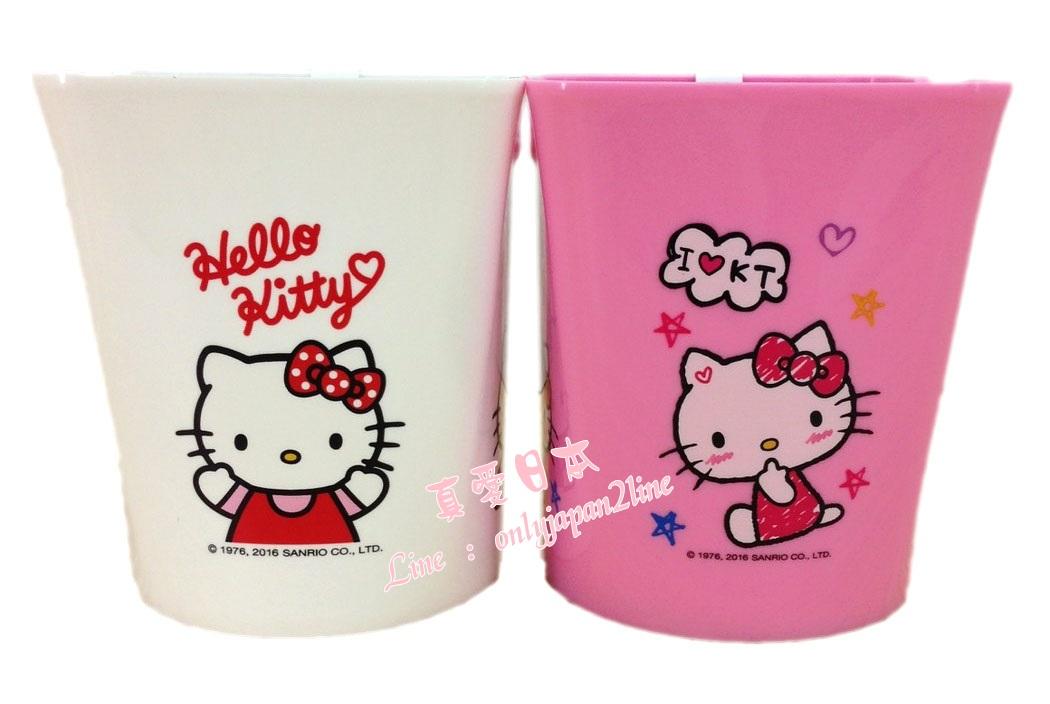 【真愛日本】16081600015多功能筆筒-KT2色  三麗鷗 Hello Kitty 凱蒂貓  筆筒 收納筒  文具用品