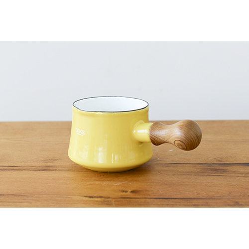 日本 DANSK 琺瑯牛奶鍋 550ml 黃色