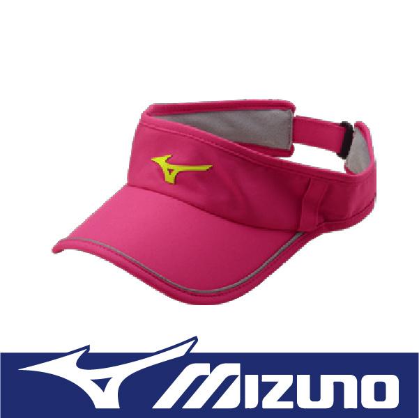 萬特戶外運動 MIZUNO美津濃  J2TW620368 女運動路跑空心帽 吸汗快乾 反光條 舒適服貼 眼鏡插座 桃紅色