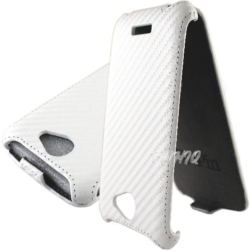 【送! 專用型保貼】HTC One S+ (One S Plus) 動感卡夢紋 下掀式/掀蓋式 手機皮套