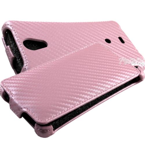 SONY Xperia T LT30i /LT30p 動感卡夢紋 下掀式/翻蓋式 手機皮套◆送很大!專用型螢幕保護貼◆