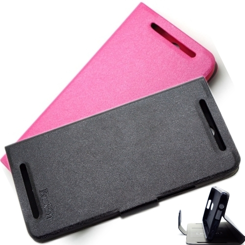 KooPin HTC One E8 璀璨星光系列 立架式側掀皮套
