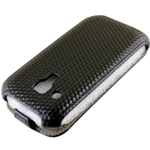 Samsung Galaxy S3 mini (i8190)盔甲紋系列 下掀式/掀蓋式 手機皮套◆送很大!專用型螢幕保護貼◆