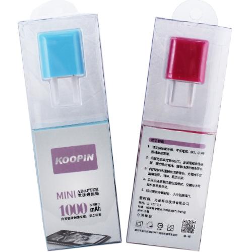 KooPin 迷你甜心糖 USB電源充電器 5V/1A-台灣安規認證◆送!i-COSE (真皮) 抽拉式 皮套◆