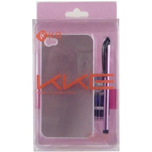 iPhone 4 KKE炫彩拉絲保護殼/電容式手寫筆(吊卡包裝)◆送很大! 買一送一◆