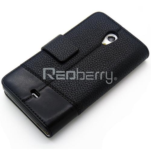 Redberry SONY Xperia T LT30i /LT30p 雙料縫線 側掀(立架式)皮套