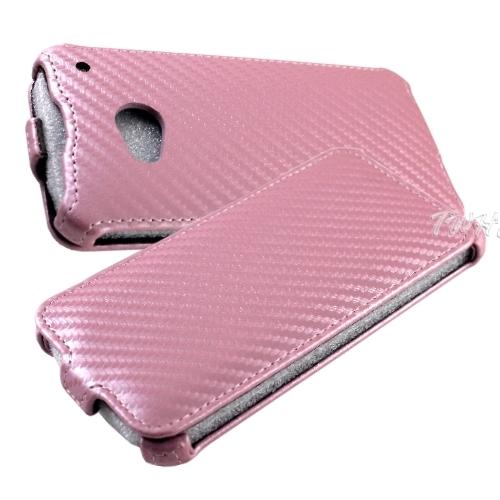 New HTC One (M7) 動感卡夢紋 下掀式/翻蓋式 手機皮套◆送很大!i-COSE (真皮) 抽拉式 皮套IP4◆