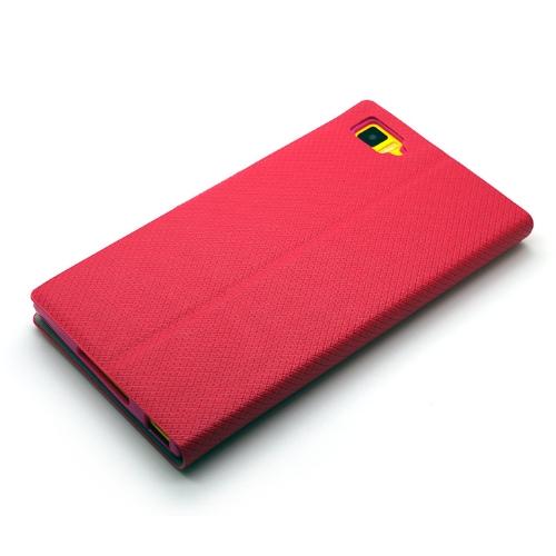 Redberry 小米機3 (MI3) 甜漾簡約 立架式側掀皮套