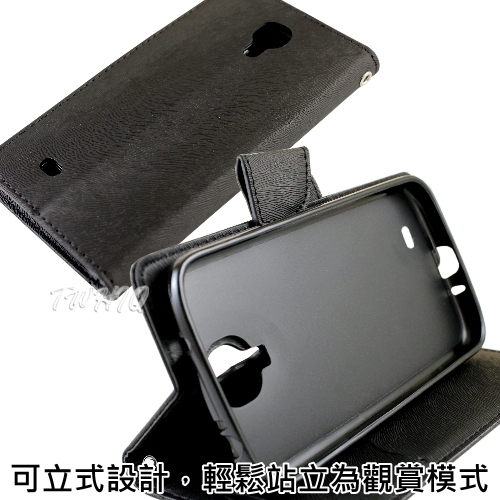 CityBoss Samsung Galaxy S4 (I9500) 可立式貂紋薄型筆記本皮套
