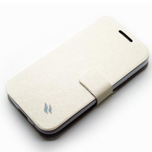 Redberry三星 Galaxy S4 Mini (i9190) 可立式 水絲紋薄型筆記本皮套
