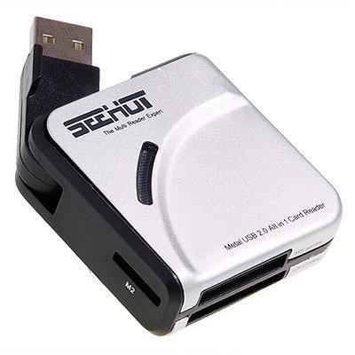 ◆支援SDHC Class6 至32GB◆SEEHOT 免轉卡多功能讀卡機(SH-C1603)