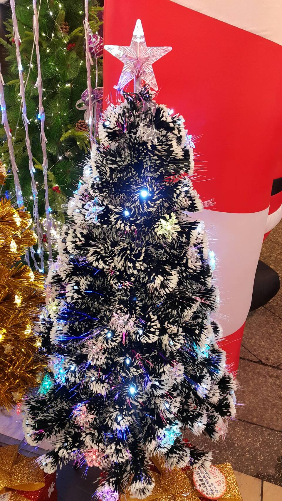 X射線【X020008】星星七彩光纖聖誕樹-3尺(不含飾品),松針樹/台灣製/聖誕樹/聖誕佈置/聖誕空樹/聖誕造景