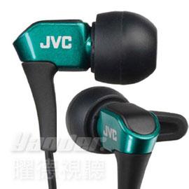 【曜德★送收納盒】JVC HA-FXH10 綠 微型動圈 耳道式耳機 線夾 ★免運★