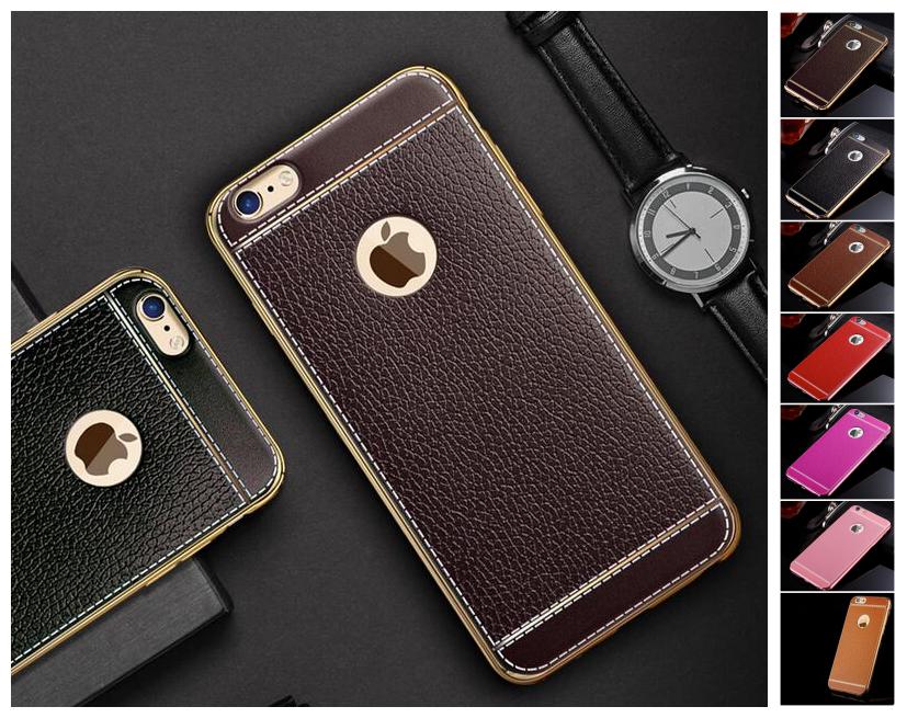 iphone7/7plus 6s/6plus 電鍍荔枝紋tpu手機殼全包浮雕防摔皮質感手機保護套