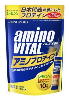 【橘町五丁目】amino VITAL胺基酸乳清蛋白/檸檬口味【4.3g * 10包入】-免運
