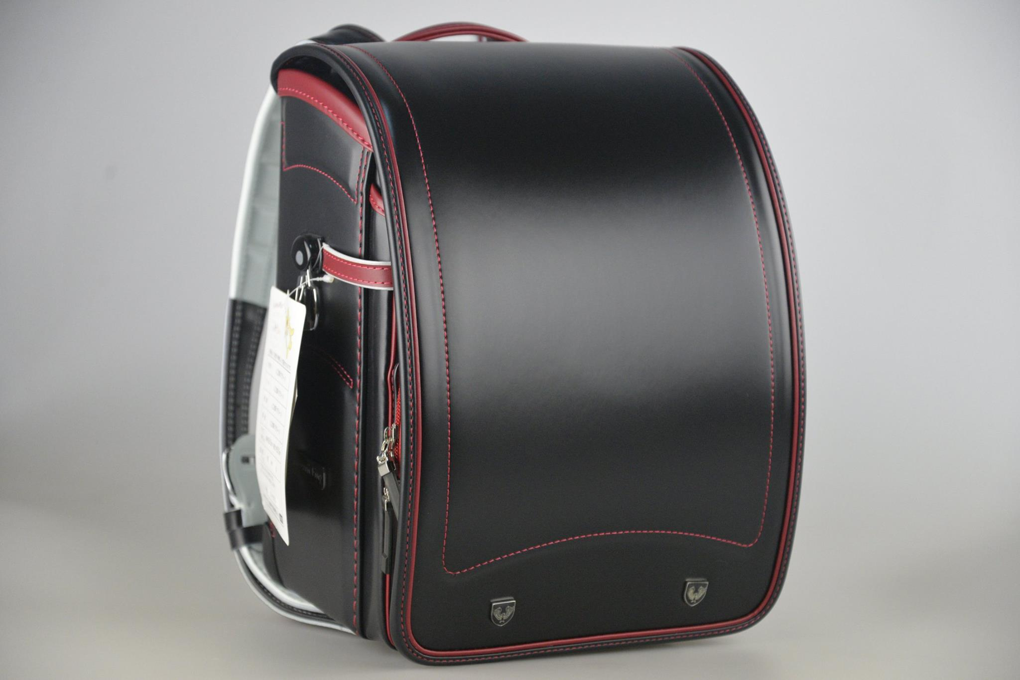 日本協和製黑色滾紅邊自動上鎖小學生書包(新貨上架)