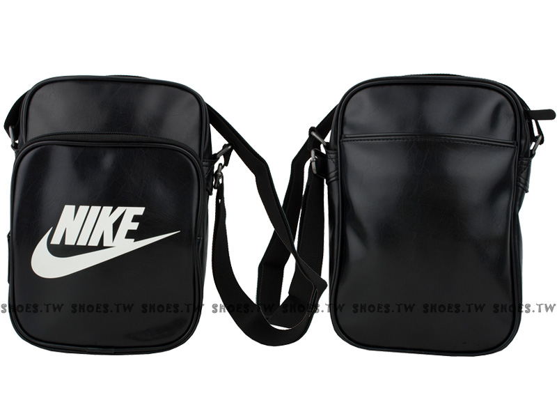 Shoestw【BA4270019】NIKE 側背包 多功能小側包 黑白 皮革 男女都適用