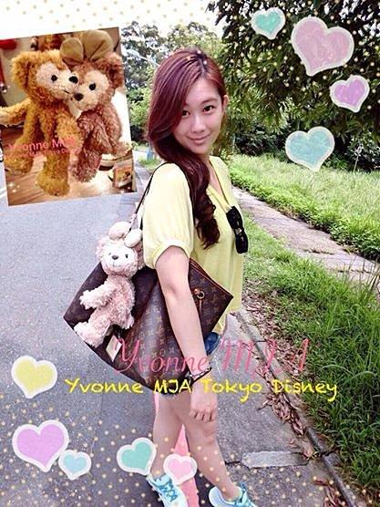 *Yvonne MJA日本代購*東京迪士尼海洋樂園限定正品Duffy達菲熊雪莉玫熊吊掛零錢包吊飾娃娃(可掛在包包上)