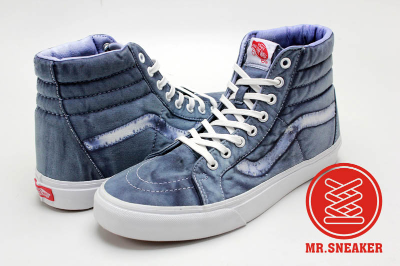 ☆Mr.Sneaker☆ VANS SK8 Hi 經典 復古/仿舊 石磨水洗 染布/磨損/破壞 休閒/滑板鞋 藍色 中性 男女款