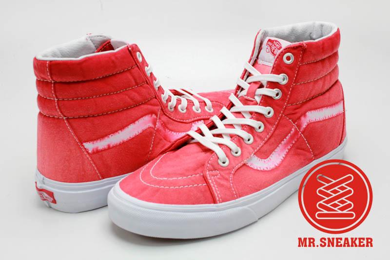 ☆Mr.Sneaker☆ VANS SK8 Hi 經典 復古/仿舊 石磨水洗 染布/磨損/破壞 休閒/滑板鞋 紅色 中性 男女款