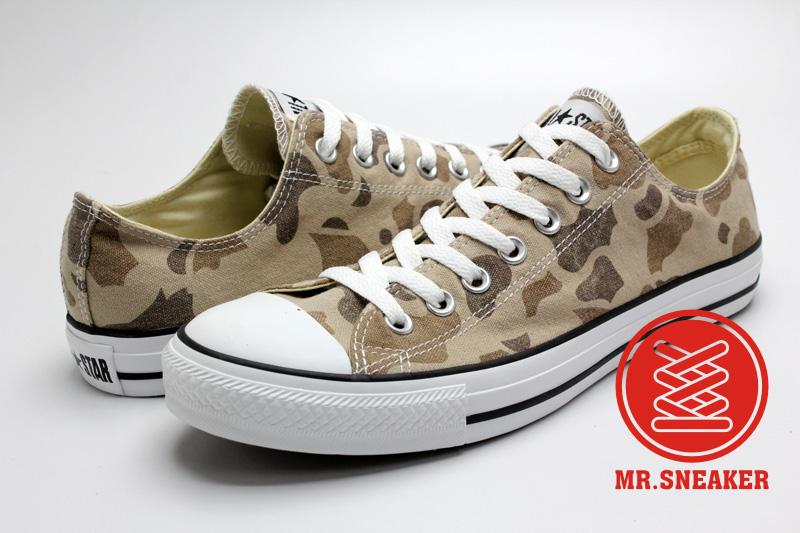 Mr.Sneaker  CONVERSE Chuck Taylor All Star OX APE 低筒 迷彩 美軍 男女款 沙漠 褐色 咖啡 茶色