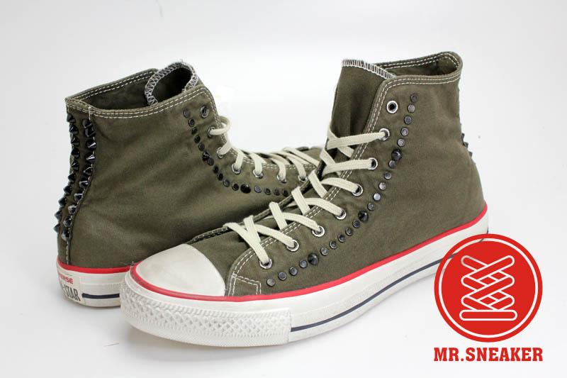 Mr.Sneaker  Converse Chuck Taylor Canvas John Varvatos 高筒 鉚釘 搖滾 破壞 平民版 水洗 刷舊 仿舊 軍綠 深綠 墨綠