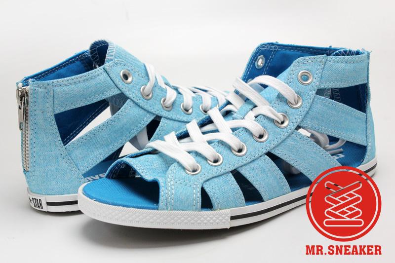 Mr.Sneaker  Converse Chuck Taylor All Star Gladiator MID 女款 高筒 帆布 休閒 羅馬 墾丁 春吶 螢光 亮藍 水藍 藍色