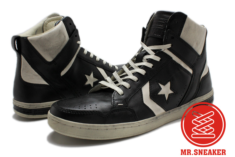 Mr.Sneaker  CONVERSE John Varvatos JV Weapon MID 高筒 復古 仿舊 刷舊 破壞 Dr.J 馬刺 黑色 白色